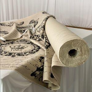 5 YARDS - Rustic Look Linen Fabric
